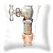 Leaky Faucet Throw Pillow