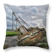 Lean To Port Throw Pillow