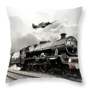 Leander And Hurricane Throw Pillow