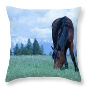 Leaning Horse Throw Pillow