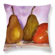 Leaning Pear Throw Pillow