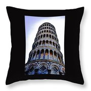 Leaning Tower Of Pisa In Tuscany, Italy Throw Pillow