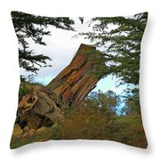 Leaning Trunk Throw Pillow