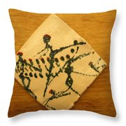 Leap - Tile Throw Pillow