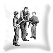 Leapfrog Throw Pillow