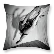 Leaping In Studio Throw Pillow