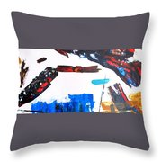 Leaping Lizzard Throw Pillow by Steve Kleier