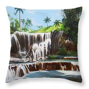 Leaping Waterfall Throw Pillow