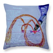 Learn To Build Throw Pillow