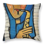 Learn To Work The Saxophone Throw Pillow