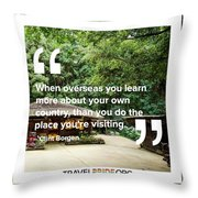 Learning More Throw Pillow