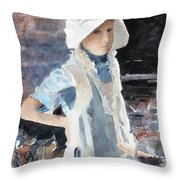 Learning The Past Throw Pillow