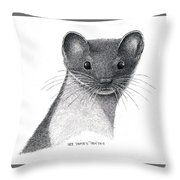 Least Weasel Throw Pillow