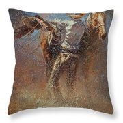 Leather And Sweat Throw Pillow
