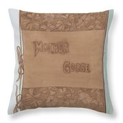 Leather Book Cover Throw Pillow