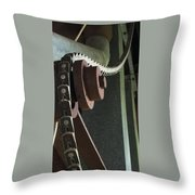 Leather Chain Throw Pillow
