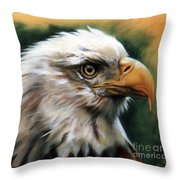 Leather Eagle Throw Pillow