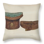 Leather Hat Box Throw Pillow
