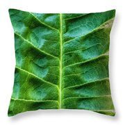 Leather Leaf Throw Pillow