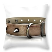 Leather Studded Collar Throw Pillow