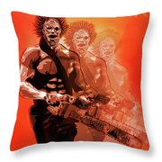 Leatherface Beastmode Throw Pillow
