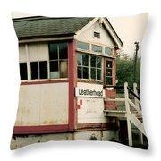 Leatherhead Station Throw Pillow