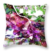 Leave In Autumn Throw Pillow