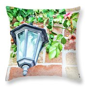 Leave The Porch Light On Throw Pillow