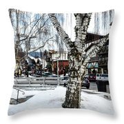 Leavenworth Lights Remain Throw Pillow