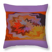 Leaves Abstract - Autumn Motif Throw Pillow