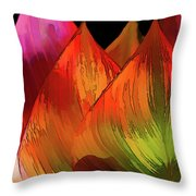 Leaves Aflame Throw Pillow