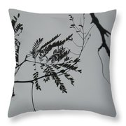 Leaves Against A Grey Sky Throw Pillow