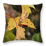 Leaves And Autumn Throw Pillow