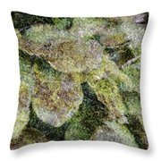 Leaves And Moss Throw Pillow