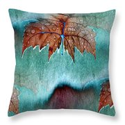 Leaves And Rain 6 Throw Pillow