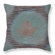 Leaves And Rain 7 Throw Pillow