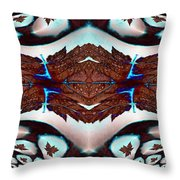 Leaves And Rain Throw Pillow