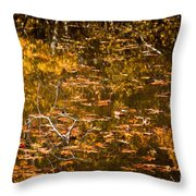 Leaves And Reflections Throw Pillow by Susan Cole Kelly