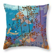 Leaves And Wire Throw Pillow