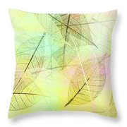 Leaves Background Throw Pillow