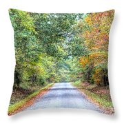Leaves Changing In The Fall Near Collierville,tn Throw Pillow