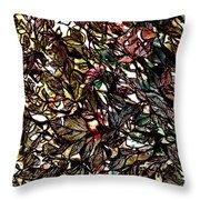 Leaves Hidden Everywhere Throw Pillow