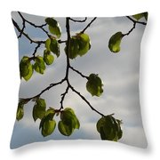 Leaves Throw Pillow