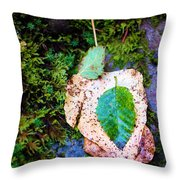 Leaves In A Pile Throw Pillow
