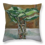 Leaves In A Tall Glass Throw Pillow