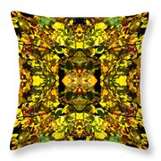 Leaves In The Fall Design Throw Pillow