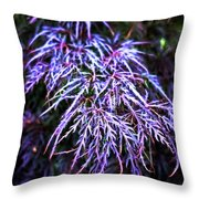 Leaves In The Light Throw Pillow