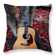 Leaves In The Martin Throw Pillow