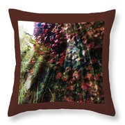 Leaves Light Streaming Throw Pillow