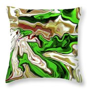 Leaves  Throw Pillow by Molly McPherson